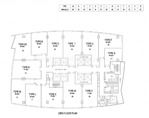 The-Gateway-Cambodia-office-tower-floor-plan-on-23rd-floor
