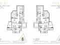 One Draycott 2 bedroom floor plan 732sqft