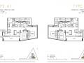 One Draycott 2 bedroom floor plan 797sqft