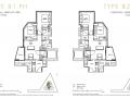 One Draycott 2 bedroom penthouse floor plan 1238sqft