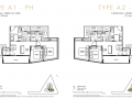 One Draycott 2 bedroom penthouse floor plan 1345sqft