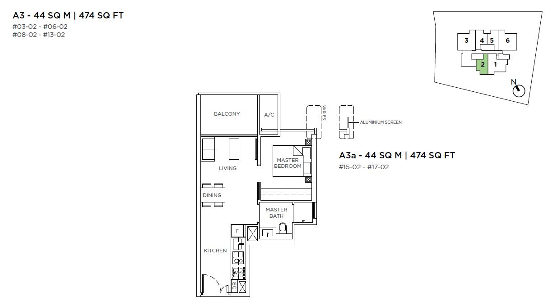 3-Cuscaden-1-bedroom-floor-plan-type-A3