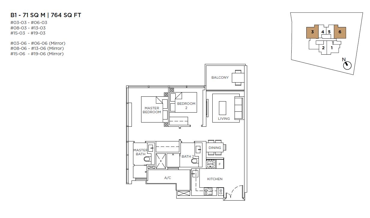 3-Cuscaden-2-bedroom-floor-plan-type-B1