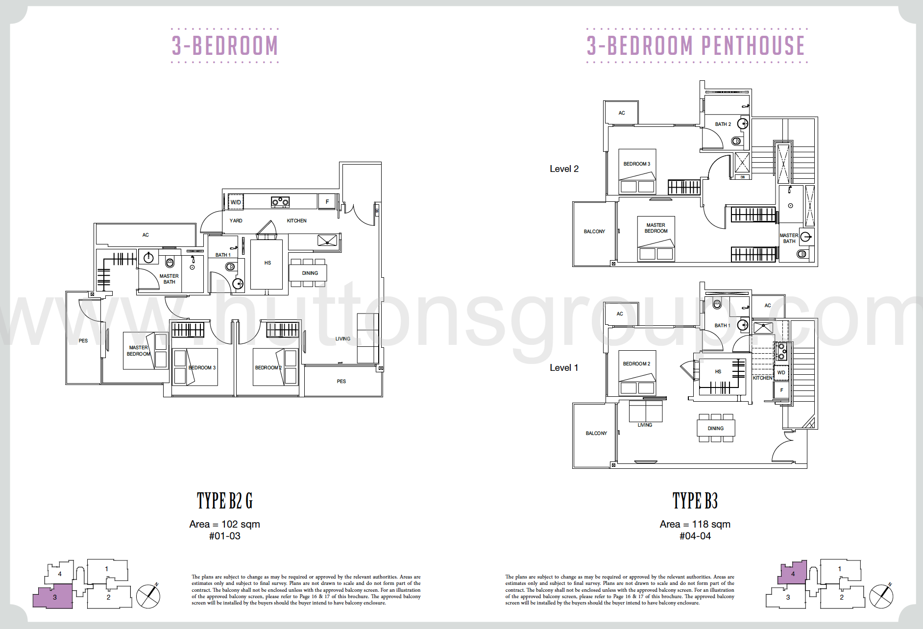 Carpmael 38 3 bedroom and penthouse floor plan