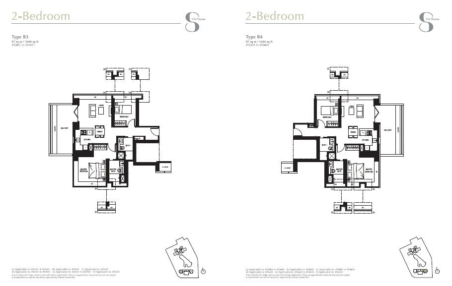 8 st Thomas floor plan 2Brs
