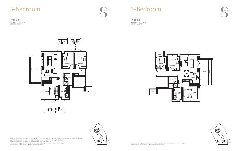 8 st Thomas floor plan 3Br