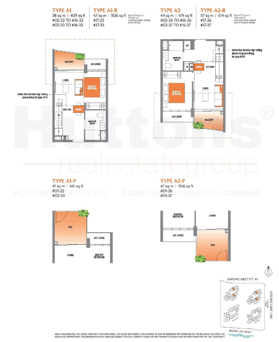 Lake Grande 1 bedroom Floor Plan