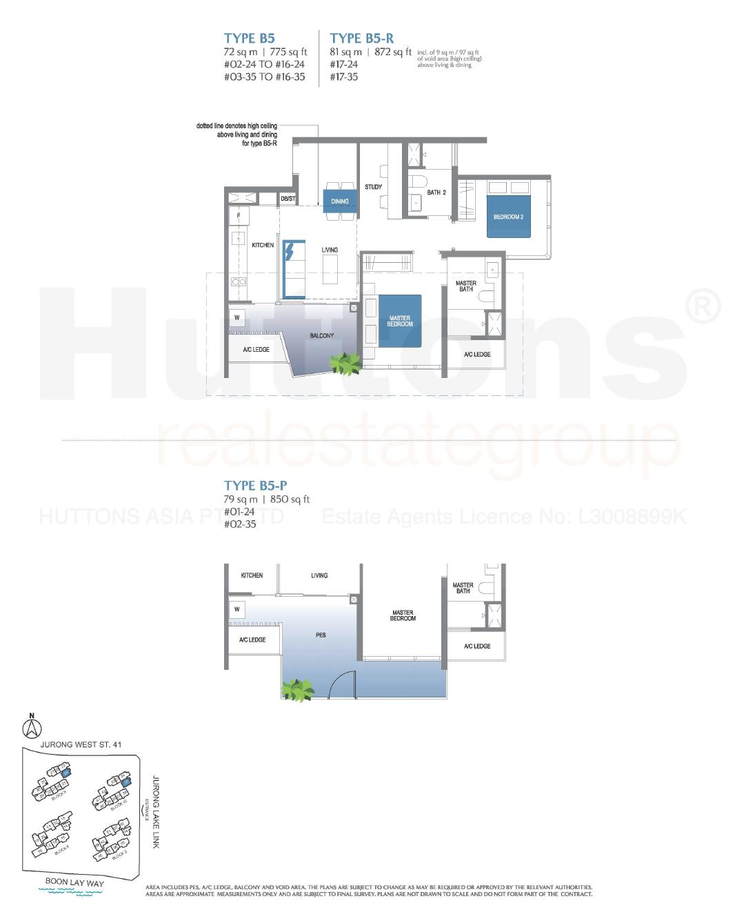 Lake Grande 2+Study Floor Plan Type B5