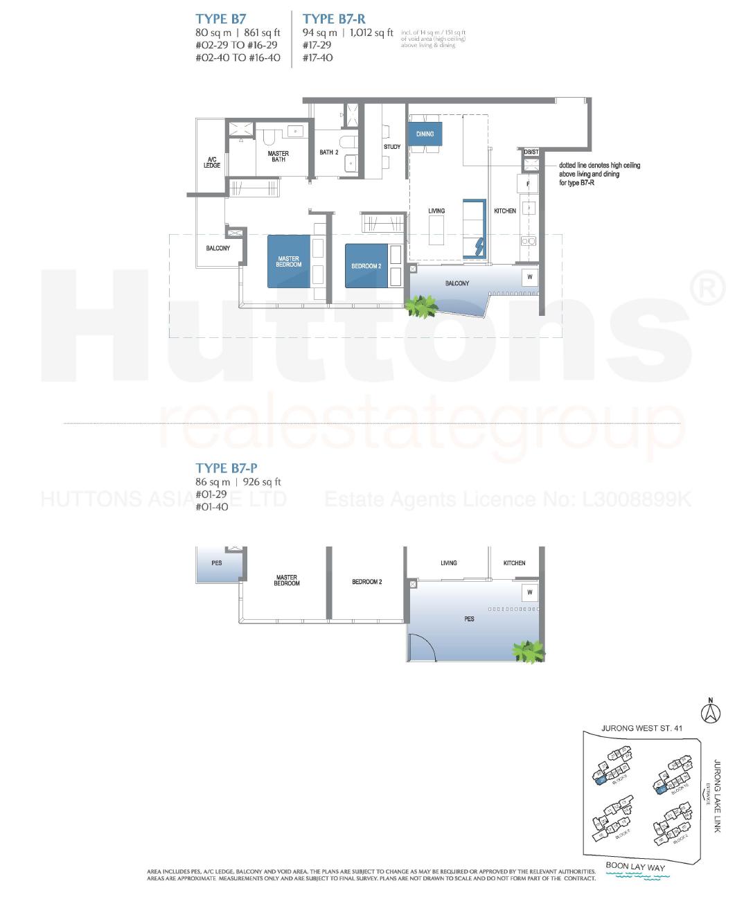 Lake Grande 2+Study Floor Plan Type B7