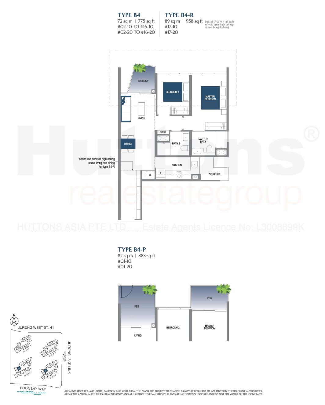 Lake Grande 2 bedroom Floor Plan Type B4