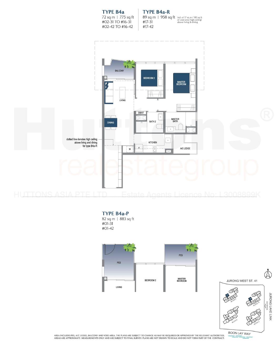 Lake Grande 2 bedroom Floor Plan Type B4a
