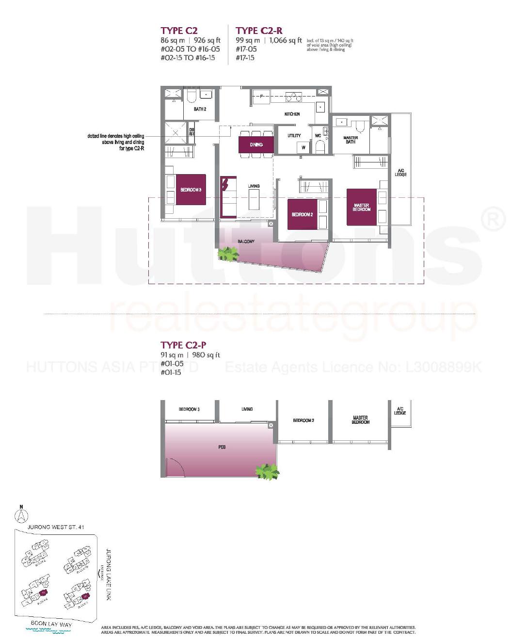 Lake Grande 3 bedroom Floor Plan type C2