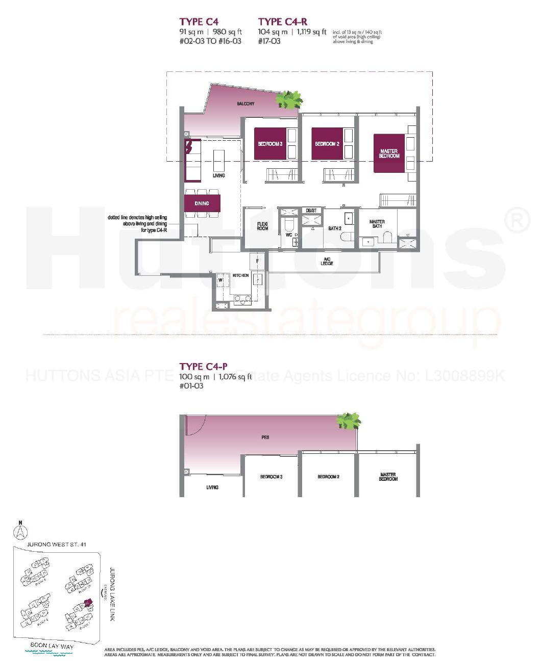 Lake Grande 3 bedroom Floor Plan type C4