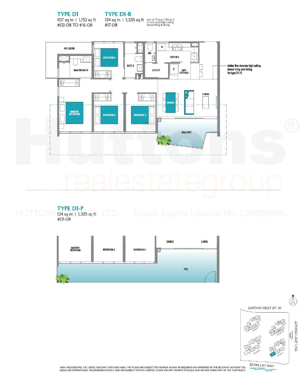 Lake Grande 4 bedroom Floor Plan type D1