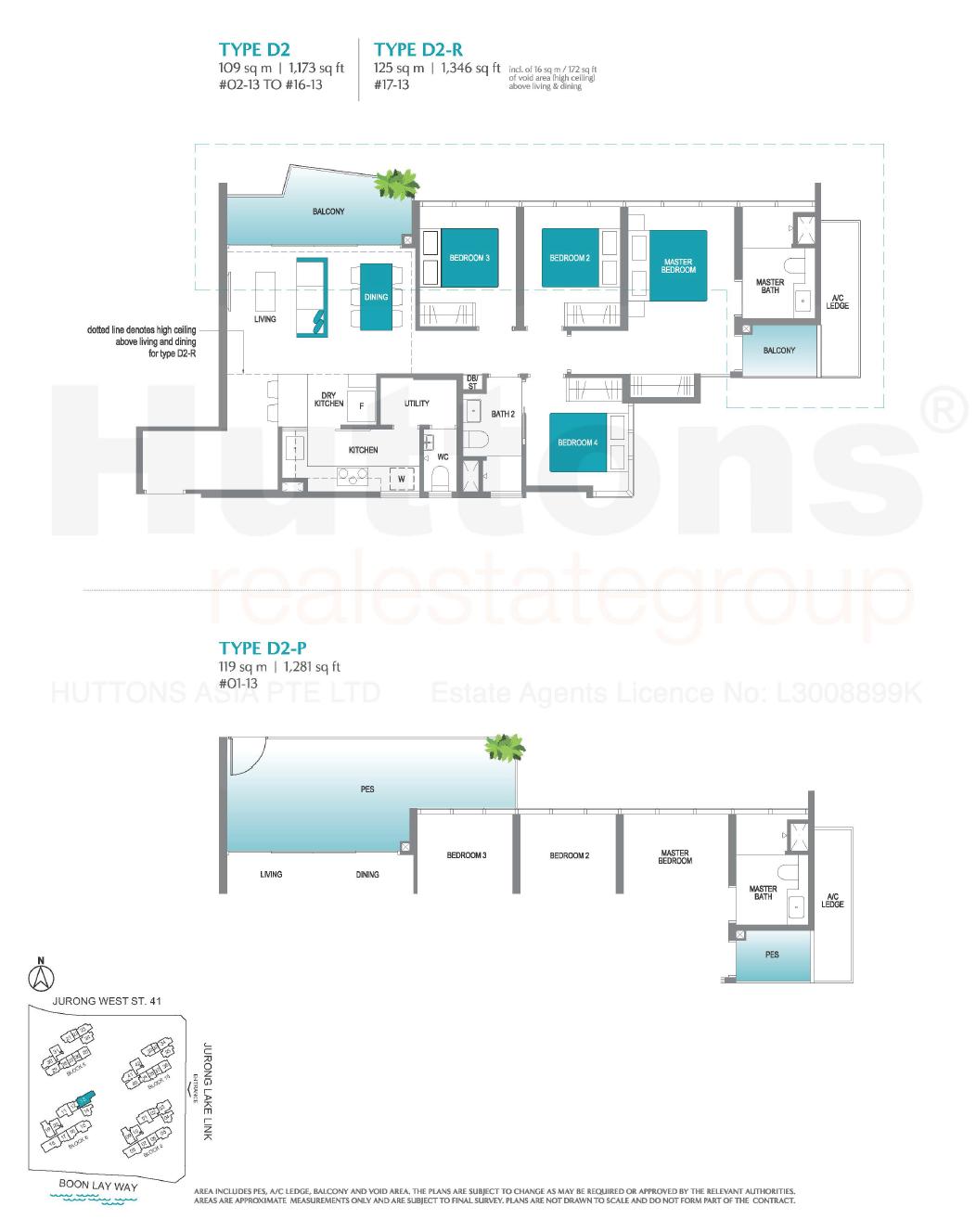 Lake Grande 4 bedroom Floor Plan type D2