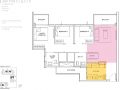 The Alps Residences floor plan - 3 Bedroom Type C1