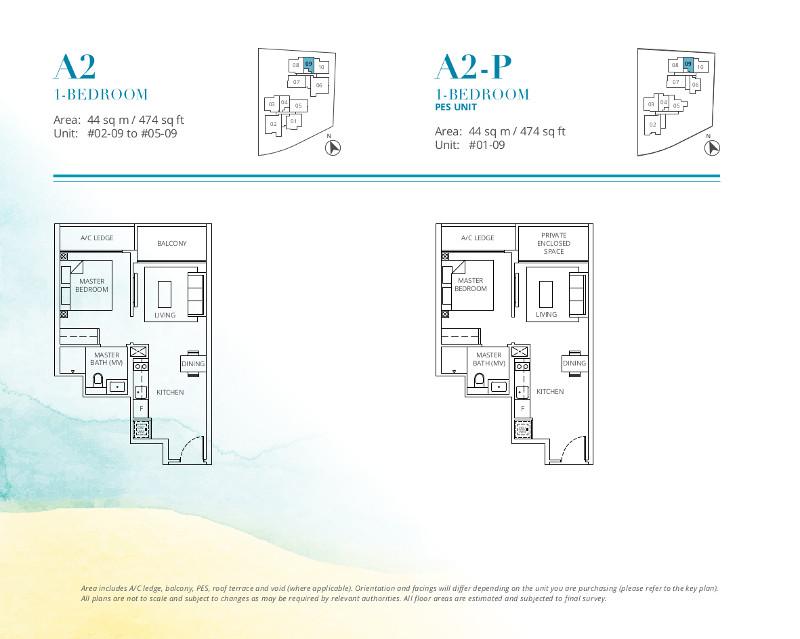 Casa-Al-Mare-1-Bedroom-Floor-Plan-Type-A2