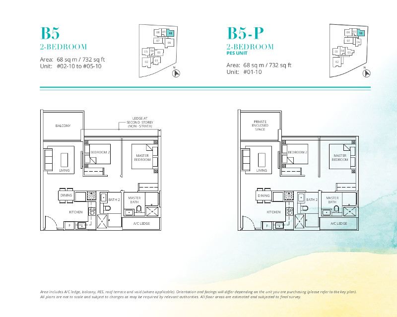 Casa-Al-Mare-2-Bedroom-Floor-Plan-Type-B5