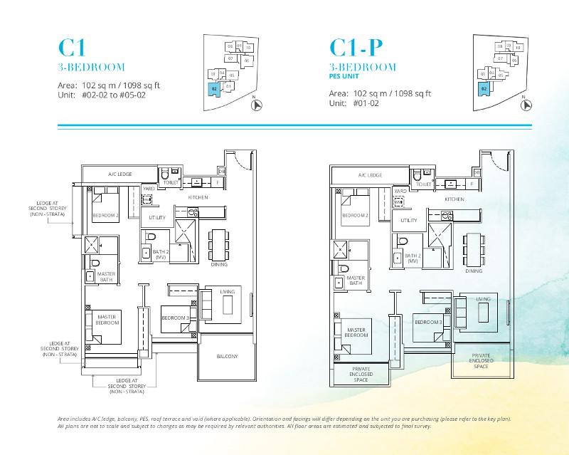 Casa-Al-Mare-3-Bedroom-Floor-Plan-Type-C1