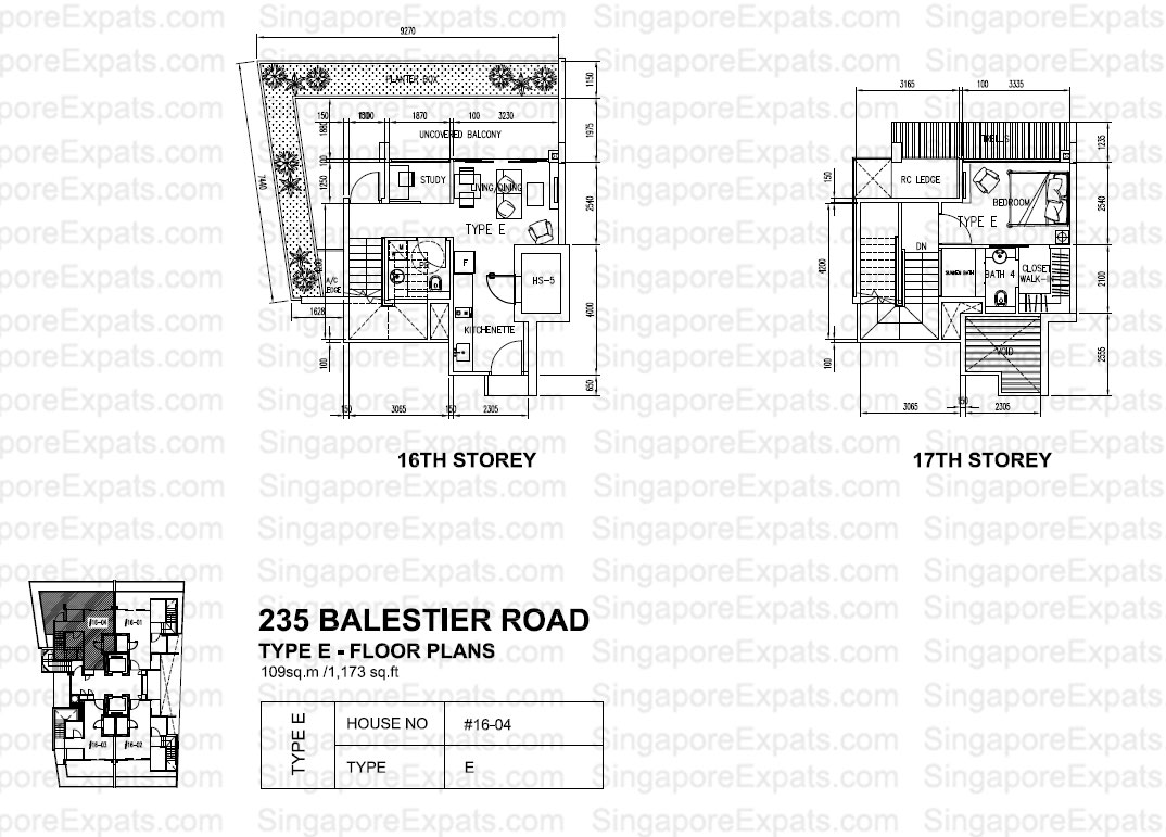 City Suites Floor plan type E