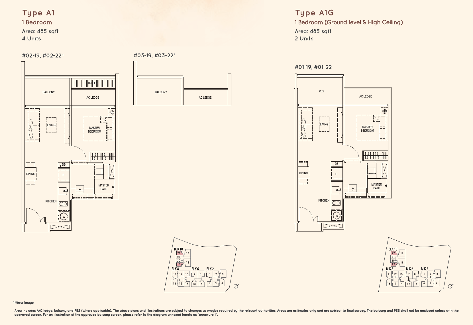 Kandis Residence 1 bedroom floor plan type A1