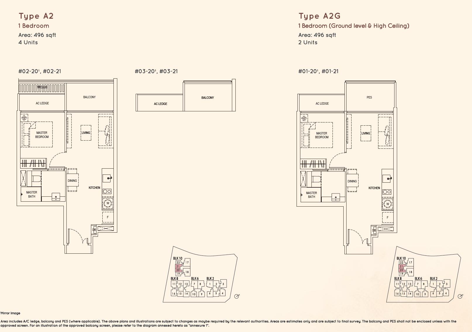 Kandis Residence 1 bedroom floor plan type A2