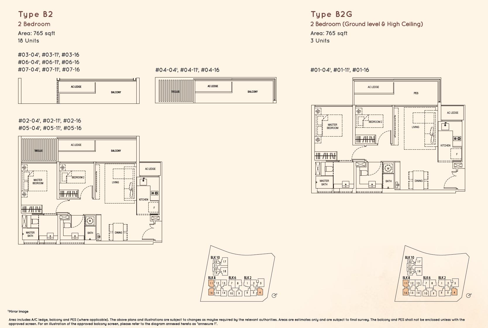 Kandis Residence 2 bedroom floor plan type B2