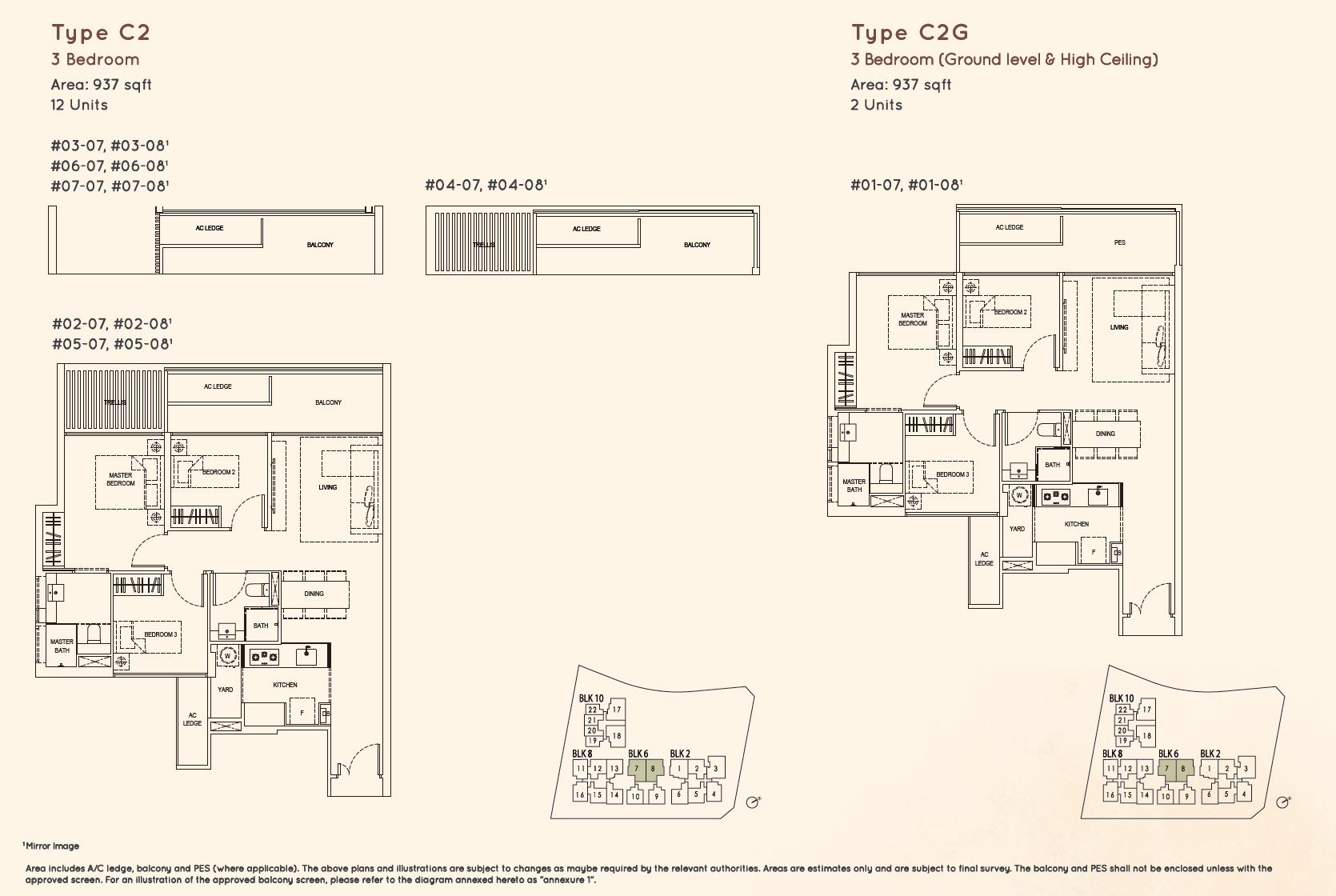 Kandis Residence 3 bedroom floor plan type C2
