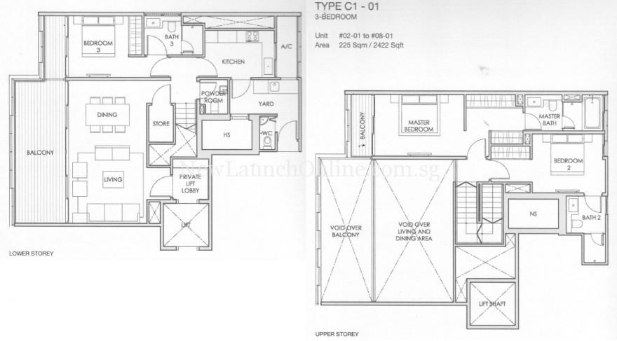 Lloyd SixtyFive 3 Bedroom Loft Floor Plan