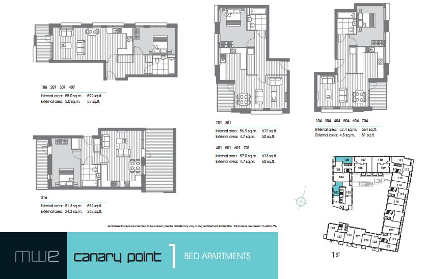 Marine Wharf East floor plan 1