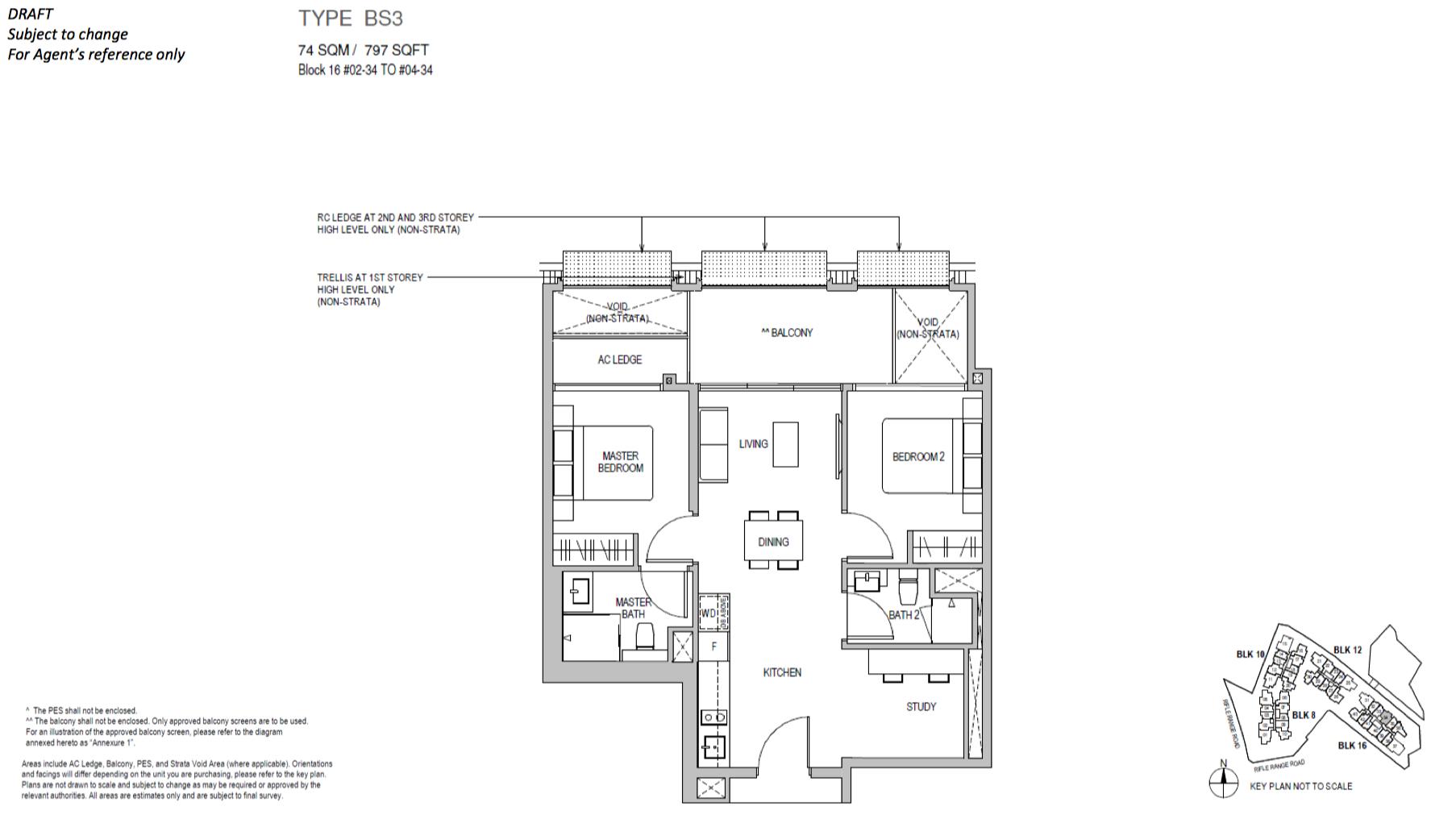 Mayfair Gardens floor plan type BS3
