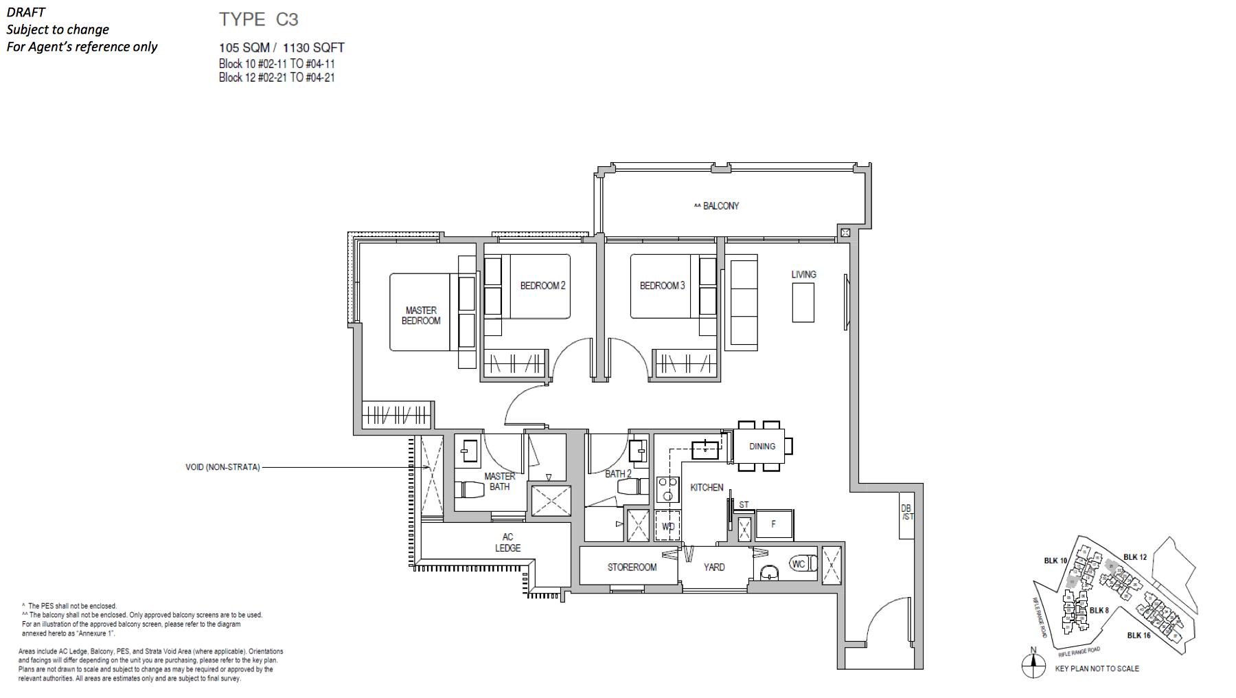 Mayfair Gardens floor plan type C3