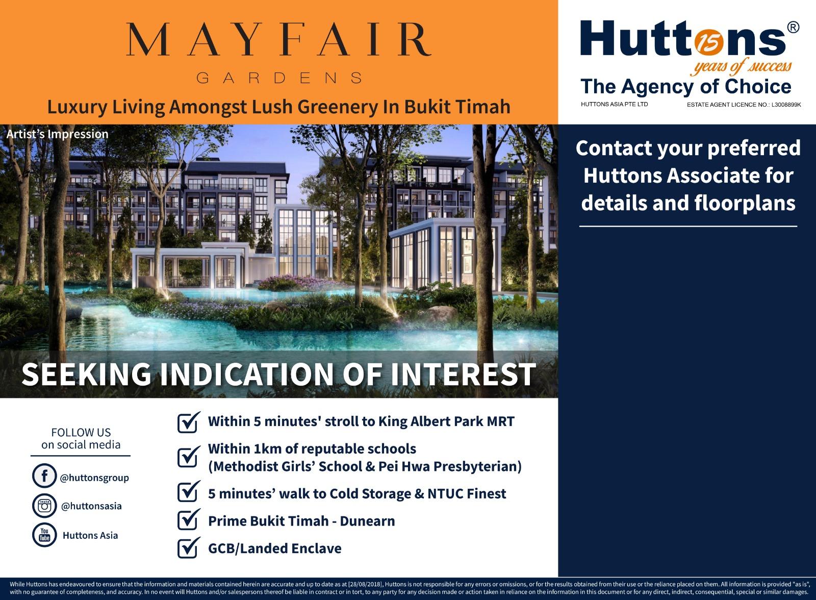 Mayfair Gardens indication of interest