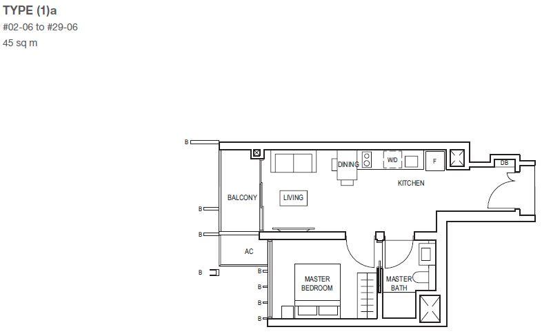 midwood-condo-floor-plan-1-bedroom-type1a