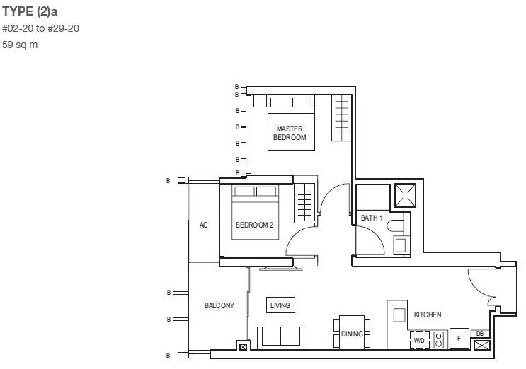 midwood-condo-floor-plan-2-bedroom-type2a