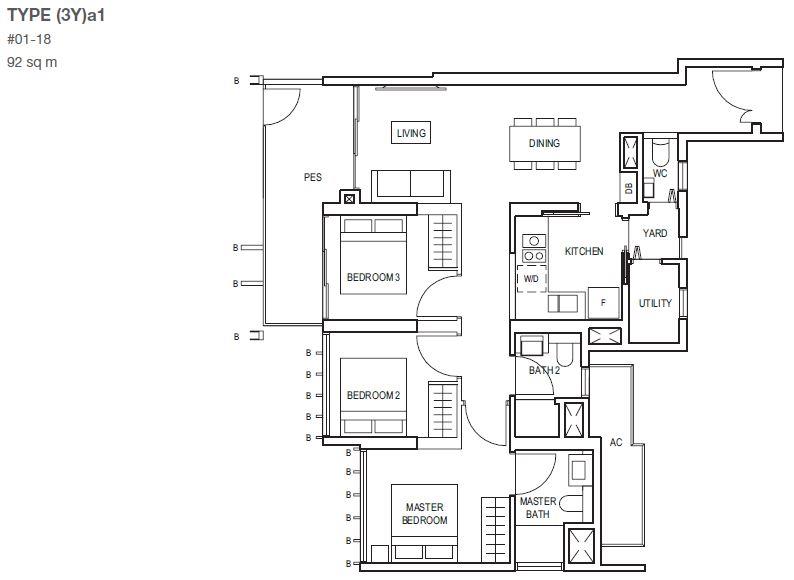 midwood-condo-floor-plan-3-bedroom-with-yard-type3Ya