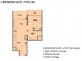 Park Colonial 1 bedroom floor plan