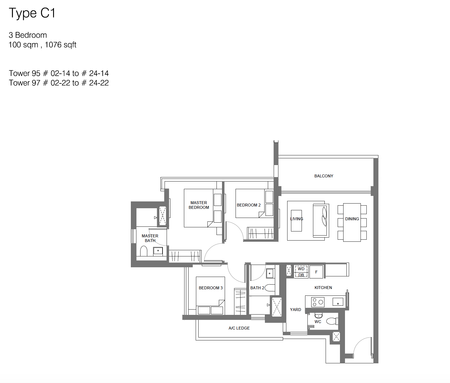 Principal Garden floor plan - 3 bedroom