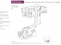 Queens Peak floor plan - Penthouse type PH1a