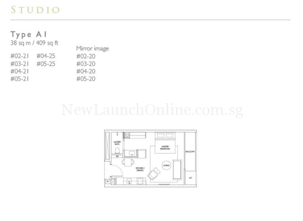 Robin Residences Studio Floor Plan