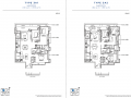 South Beach Residences 3 bedroom floor plan (1)