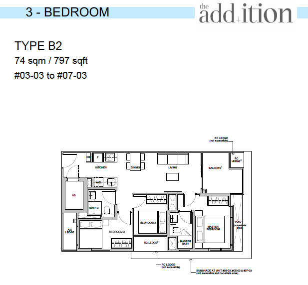 The Addition by Oxley 3 br floor plan