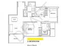 The Criterion ec floor plan 2 Bedroom