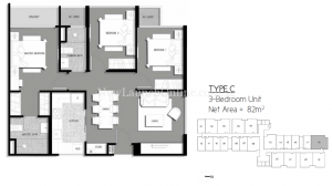 The-Gateway-Cambodia-3-bedroom-floor-plan
