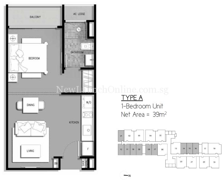 The-Gateway-Cambodia-1-bedroom-floor-plan