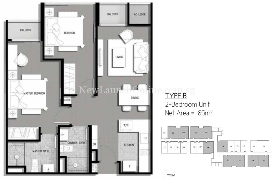 The-Gateway-Cambodia-2-bedroom-floor-plan