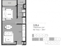 The-Gateway-Cambodia-1-bedroom-floor-plan