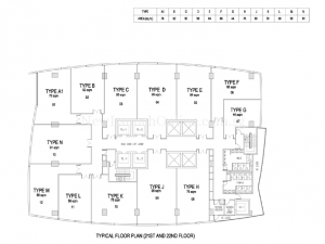 The-Gateway-Cambodia-office-tower-floor-plan-from-21st-to-22nd-floor