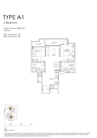 The Peak floor plan A1