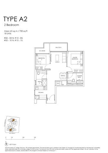 The Peak floor plan A2